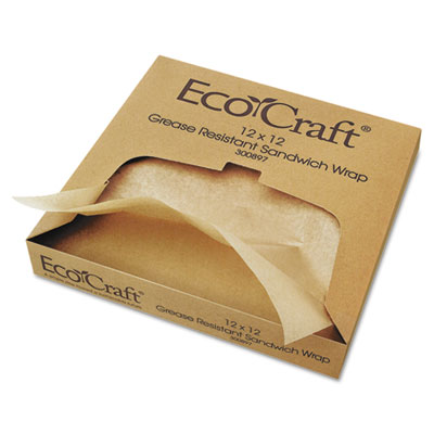 Bagcraft Papercon EcoCraft Grease-Resistant Paper Wrap & Liner