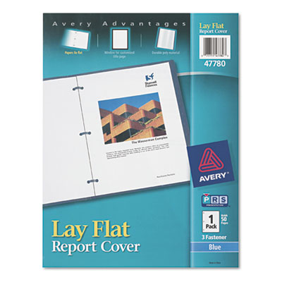 Avery Lay Flat View Report Cover with Flexible Fastener