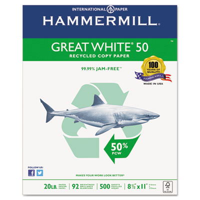 Hammermill Great White 50 Recycled Copy Paper