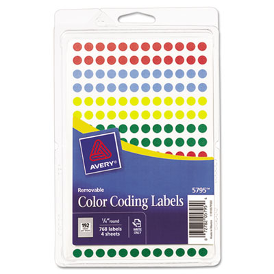 Avery Printable Removable Color-Coding Labels