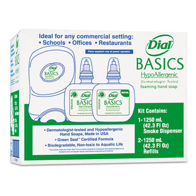 Dial Duo Basics Hypoallergenic Foaming Hand Soap Dispenser Kit