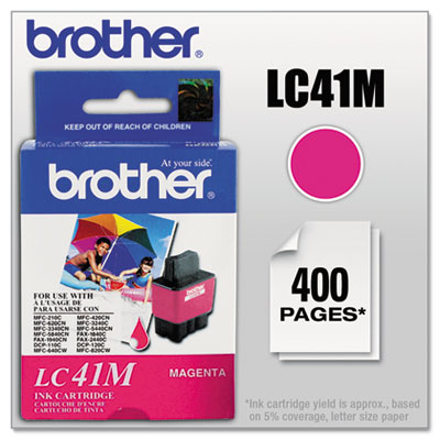 Brother LC41BK, TLC41C, LC41HYBK, LC41Y, LC41Y Inkjet Cartridge