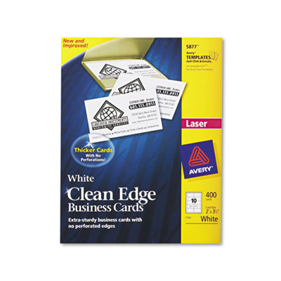 Avery Premium Clean Edge Business Cards