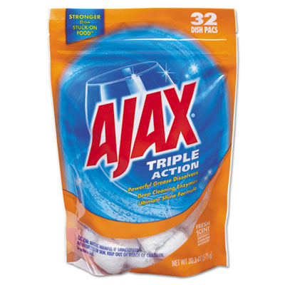 Ajax Triple Action Automatic Dishwasher Detergent Packs