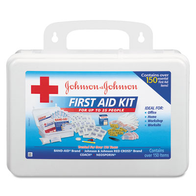 Johnson & Johnson Red Cross Office/Professional First Aid Kit, For Up to 25 People
