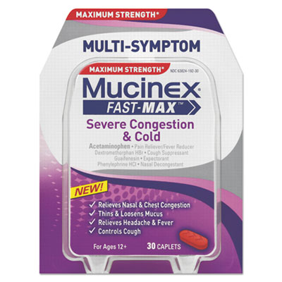 Mucinex Fast-Max Severe Congestion & Cold Caplets