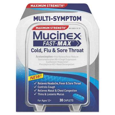 Mucinex Fast-Max Cold, Flu & Sore Throat Caplets