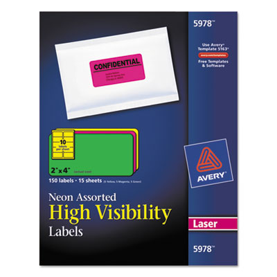 Avery High-Visibility Labels