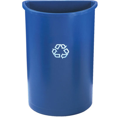 Rubbermaid Commercial Half-Round Recycling Container