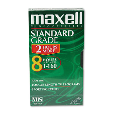 Maxell High-Quality 8-Hour GXT160 VHS Video Tape