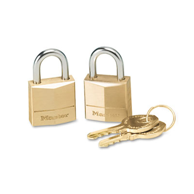 Master Lock Twin Brass 3-Pin Tumbler Lock