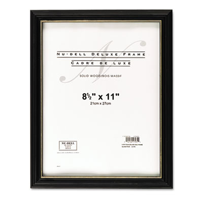 NuDell Gold Trim Deluxe Document Frame
