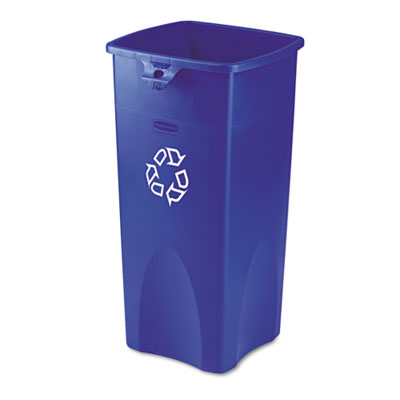 Rubbermaid Commercial Untouchable Square Recycling Container