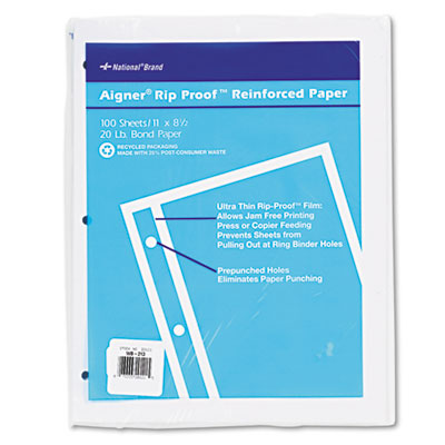 National Brand Rip Proof Reinforced Filler Paper