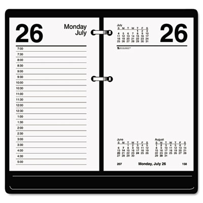 AT-A-GLANCE One-Color Daily Desk Calendar Refill