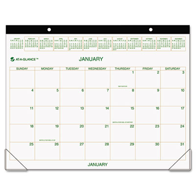 AT-A-GLANCE Two-Color Desk Pad