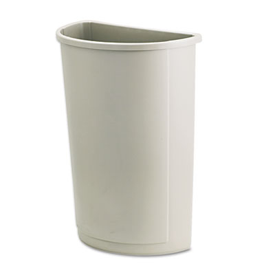 Rubbermaid Commercial Untouchable Half-Round Plastic Receptacle