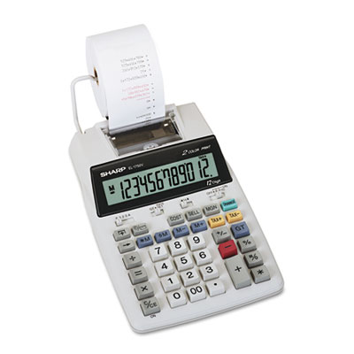 Sharp EL1750V LCD Two-Color Printing Calculator