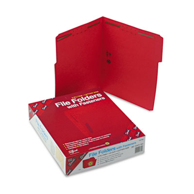 Smead Top Tab Colored Fastener Folders