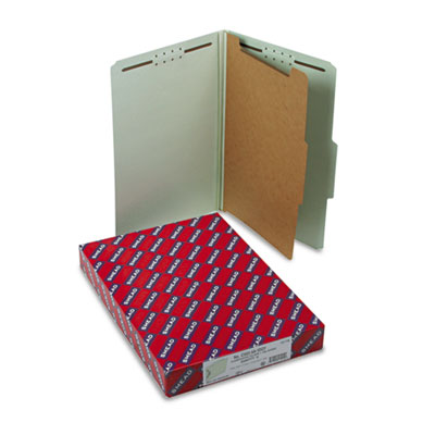 Smead Pressboard Classification Folders with SafeSHIELD Coated Fasteners