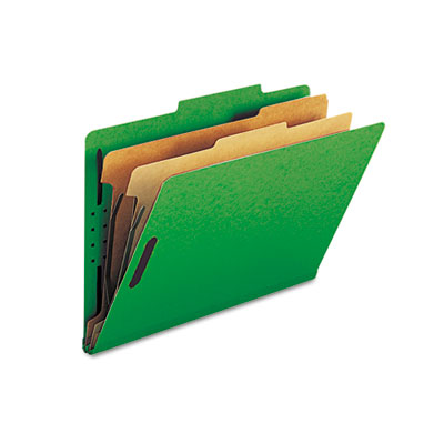 Smead Six-Section Colored Pressboard Top Tab Classification Folders with SafeSHIELD Coated Fasteners