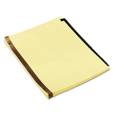 Universal Preprinted Simulated Leather Tab Dividers with Gold Printing