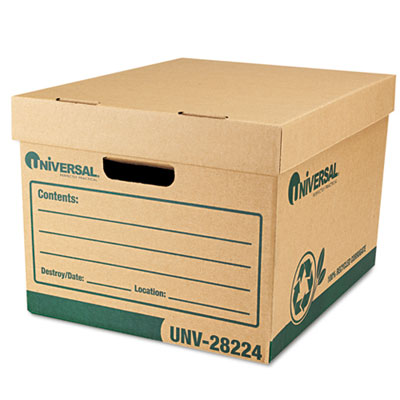 Universal One Recycled Medium-Duty Record Storage Boxes