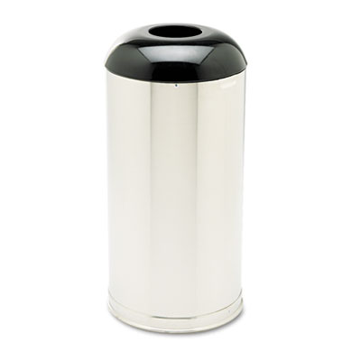 Rubbermaid Commercial European & Metallic Series Receptacle with Drop-In Dome Top