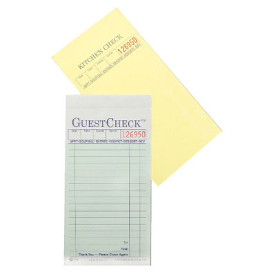 National Checking Company Guest Check Pad
