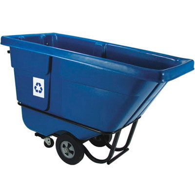Rubbermaid Commercial Rotomolded Recycling Tilt Truck