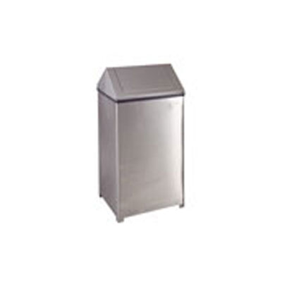 Rubbermaid Commercial Fire-Safe Steel Swing Top Receptacle
