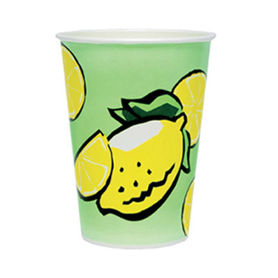 SOLO Cup Company Double Poly Paper Lemonade Cups