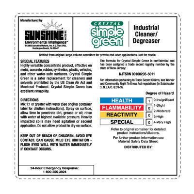 simple green allpurpose cleaner labels
