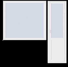 Стандартный балконный блок