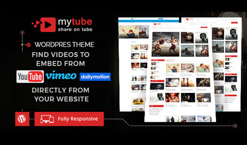 Youtube, Vimeo & Daily Motion Clips WordPress Theme Website Template