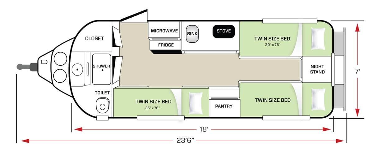 Twin Bed Floor Plan Sleeping