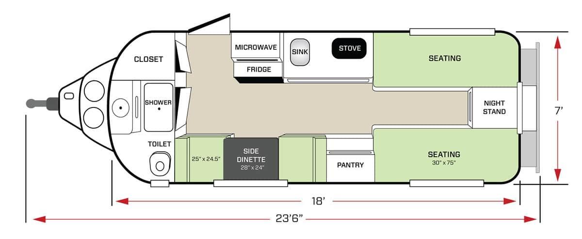 Twin Bed Floor Plan Seating