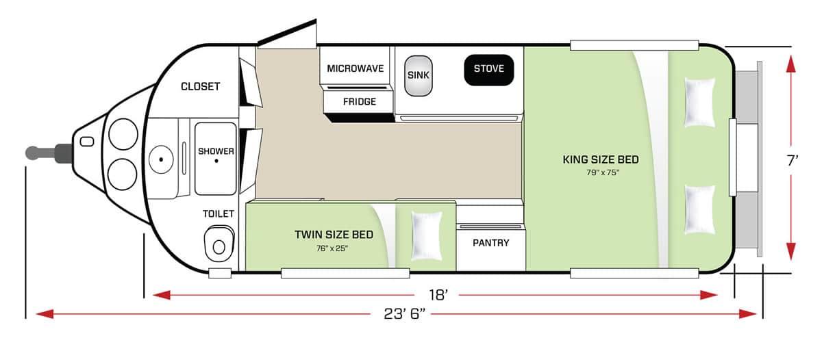 Standard Floor Plan Sleeping Diagram