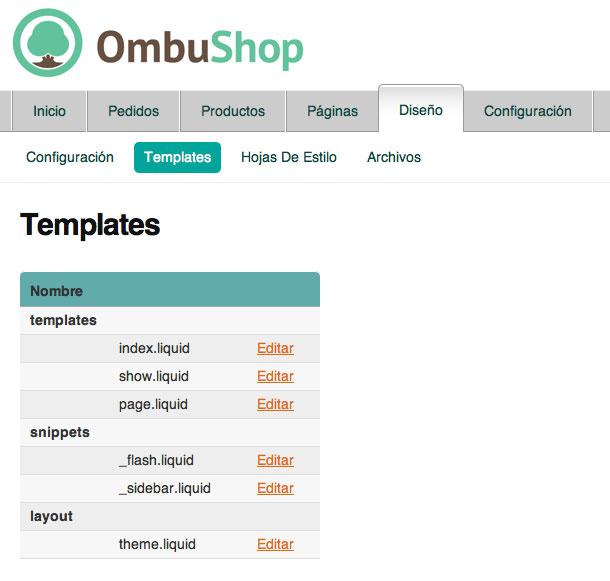 Templates Ombushop
