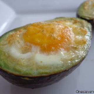 Baked Eggs Inside Avocado Halves