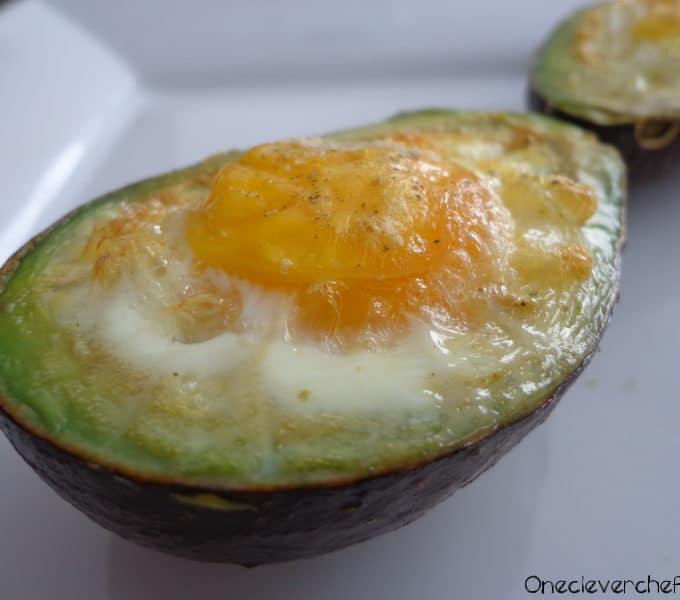 Baked Eggs Inside Avocado Halves