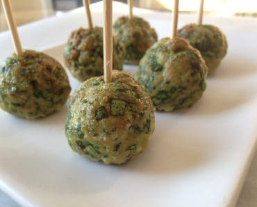 Ground Turkey Meatballs With Spinach and Parmesan