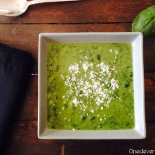 Kale And Spinach Cream Soup