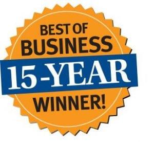 Best Bussines 15-Year Winner!