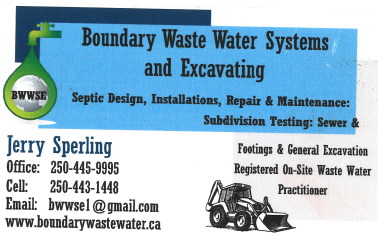 Boundary Waste Water Systems & Excavating Ltd.
