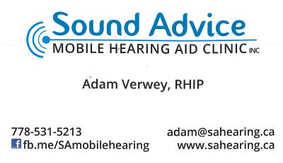 Sound Advice Mobile Hearing Aid Clinic Inc.