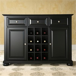 Buy kitchen buffets and sideboards - Alexandria Buffet Server / Sideboard Cabinet with Wine Storage - Black - KF42001ABK
