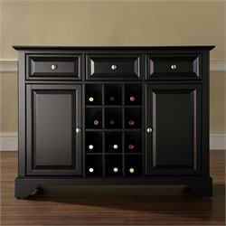 Buy black buffets and sideboards - LaFayette Buffet Server / Sideboard with Wine Storage - Black - KF42001BBK