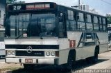 �nibus Auto Via��o Alpina 9, CAIO Am�lia, Mercedes-Benz OF-1113, foto em Diadema - SP. Por Regis Carvalho.