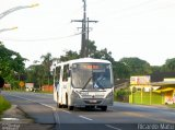 �nibus Oce�nica Sul 029, Neobus Spectrum City, Mercedes-Benz OF-1418, foto em Pontal do Paran� - PR. Por Ricardo Matu.